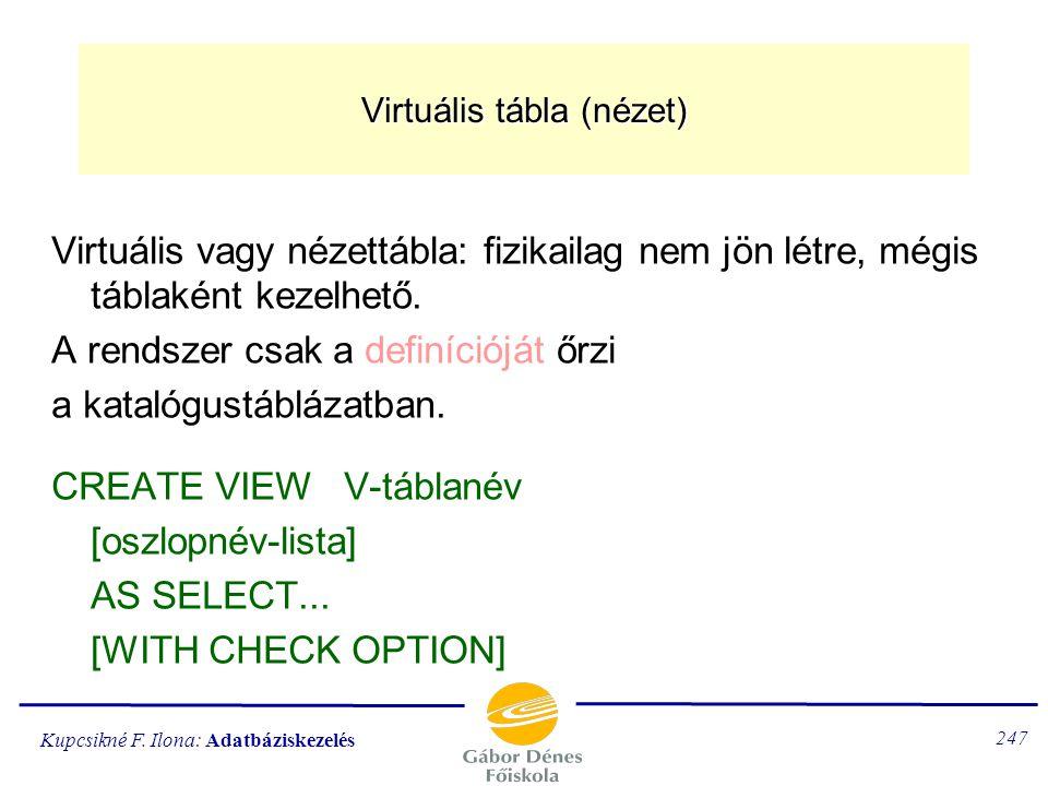 Virtuális tábla (nézet)