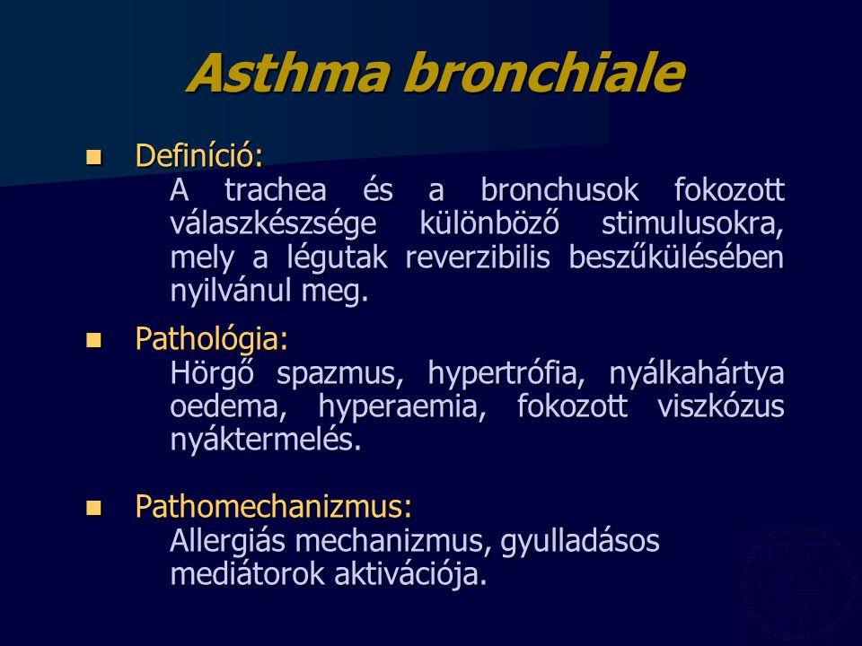Asthma bronchiale Definíció:
