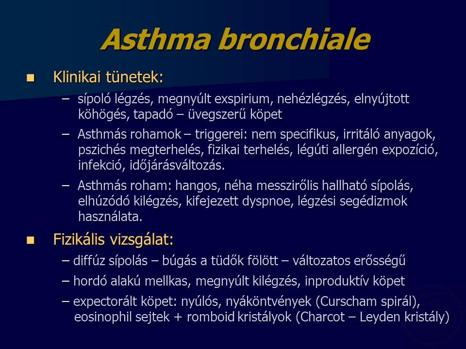 Asthma bronchiale Klinikai tünetek: Fizikális vizsgálat: