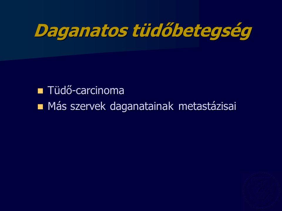 Daganatos tüdőbetegség