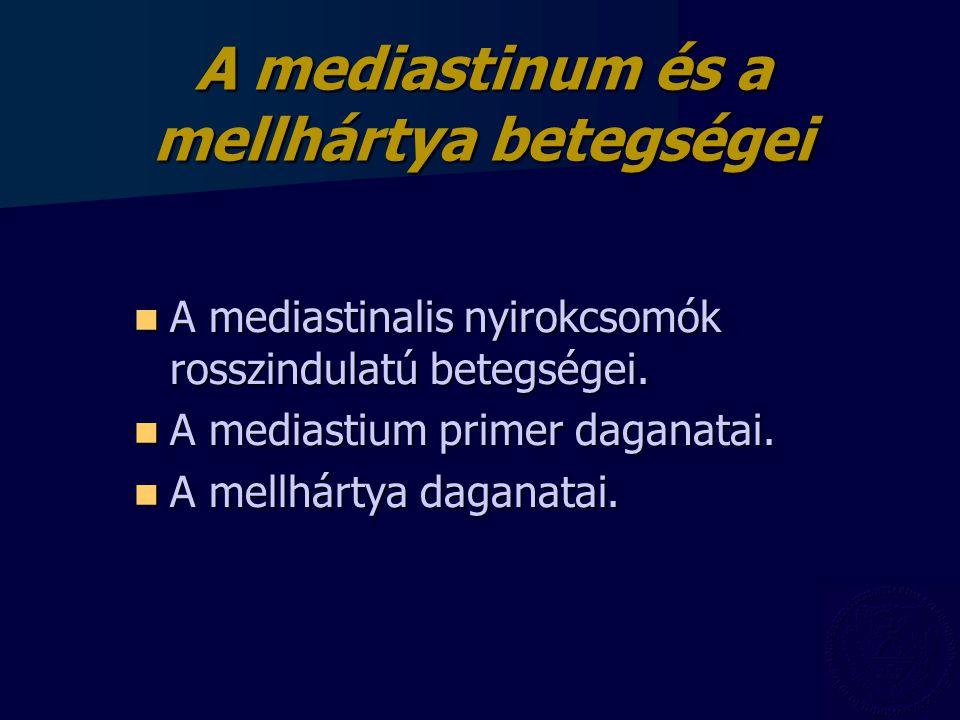 A mediastinum és a mellhártya betegségei