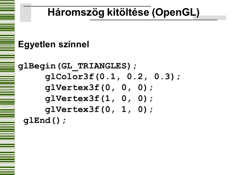 Háromszög kitöltése (OpenGL)