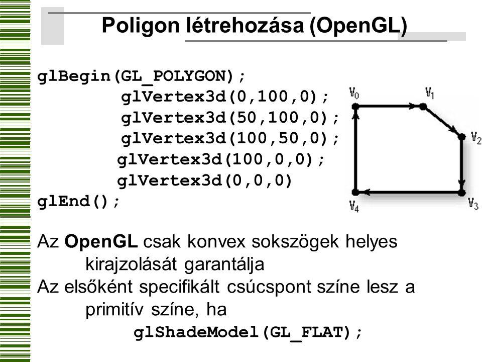 Poligon létrehozása (OpenGL)