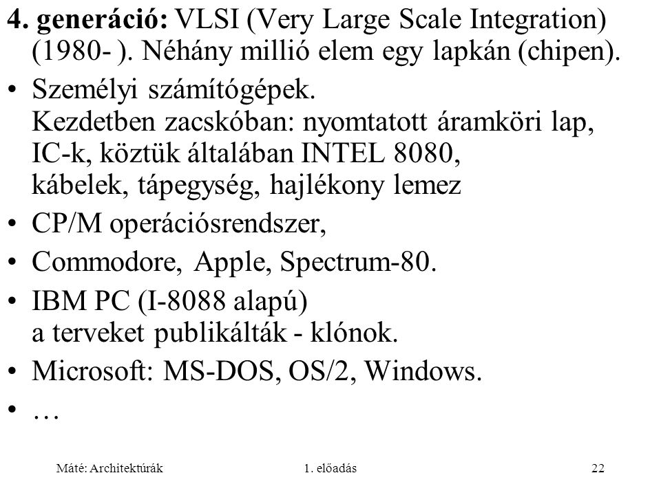 CP/M operációsrendszer, Commodore, Apple, Spectrum-80.