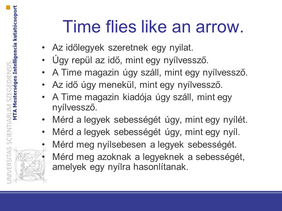Time flies like an arrow.