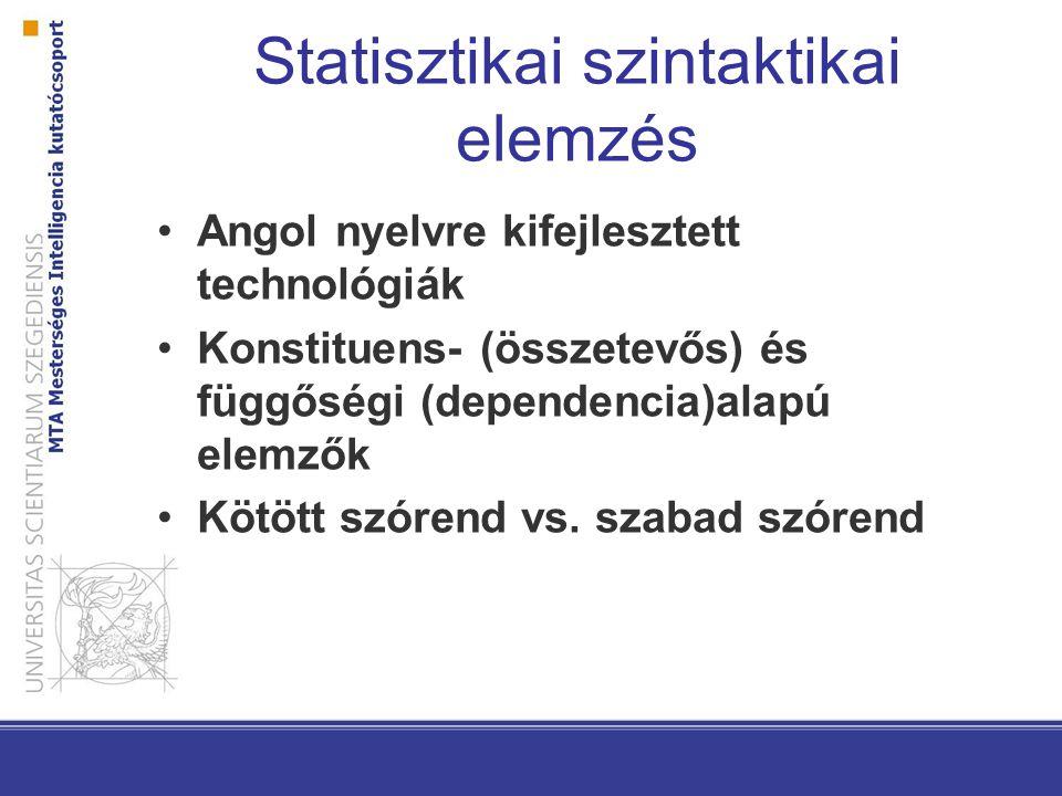 Statisztikai szintaktikai elemzés