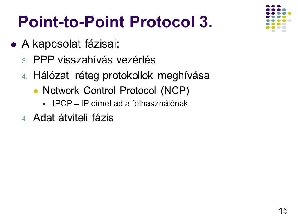 Point-to-Point Protocol 3.
