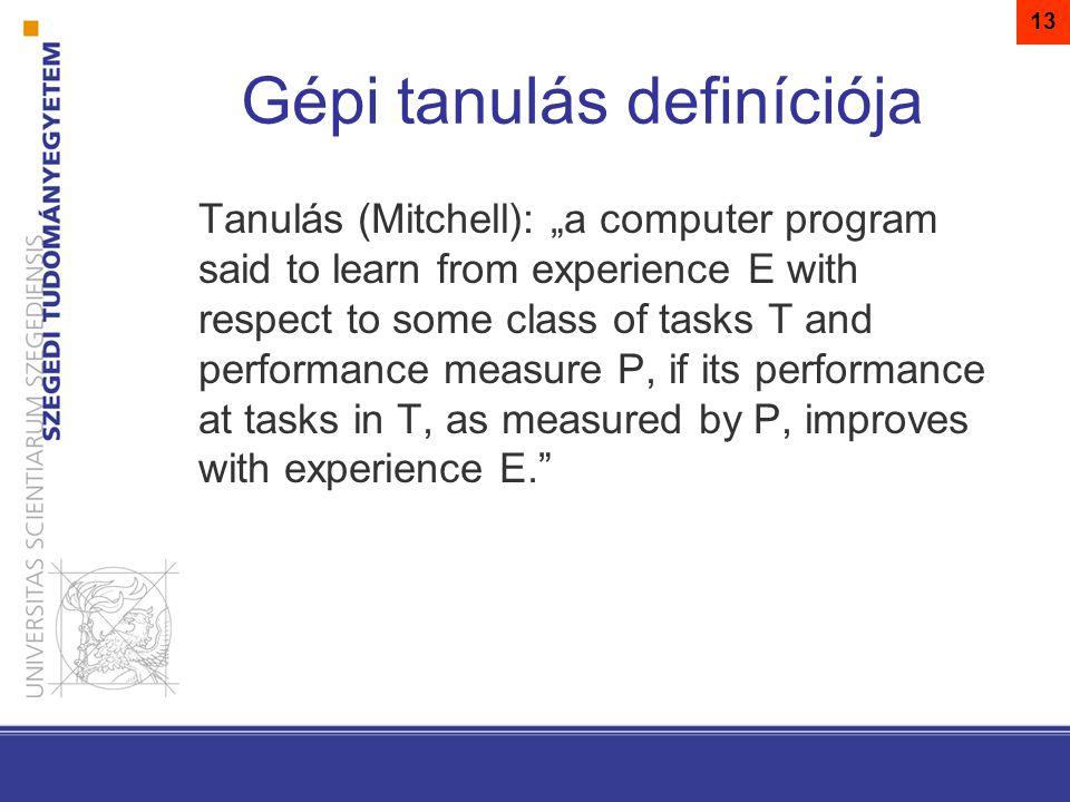 Gépi tanulás definíciója
