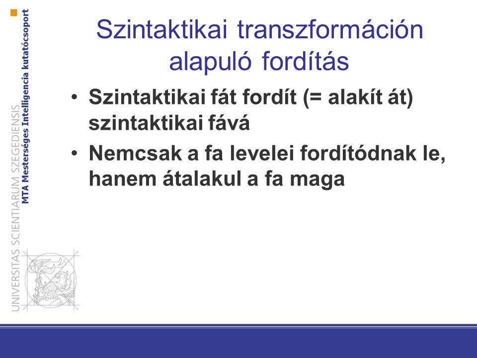 Szintaktikai transzformáción alapuló fordítás