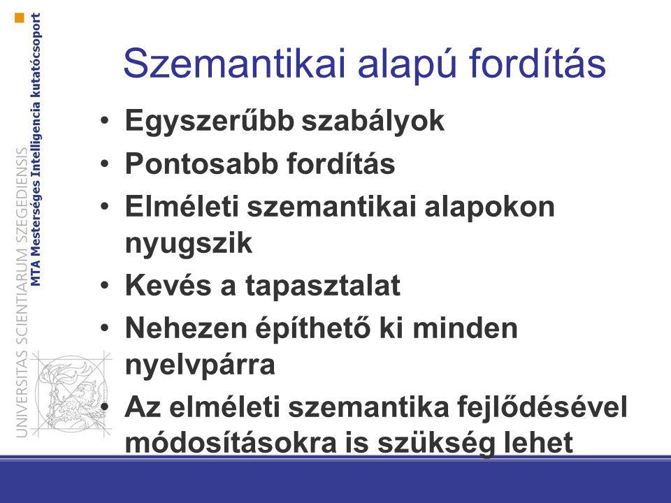 Szemantikai alapú fordítás