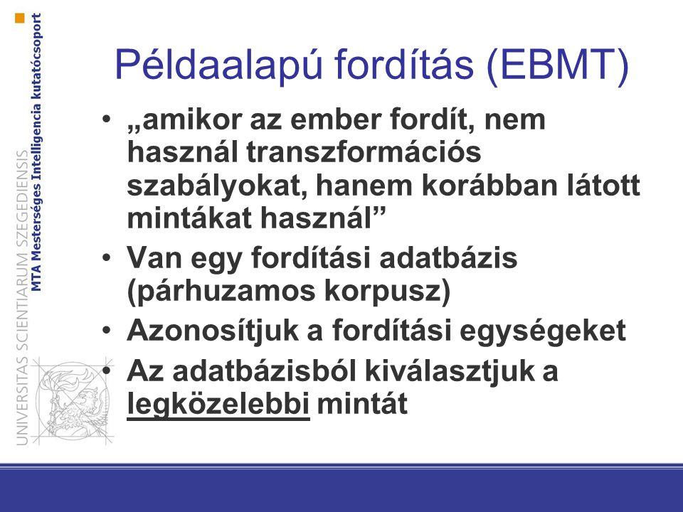Példaalapú fordítás (EBMT)