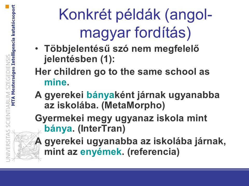 Konkrét példák (angol-magyar fordítás)