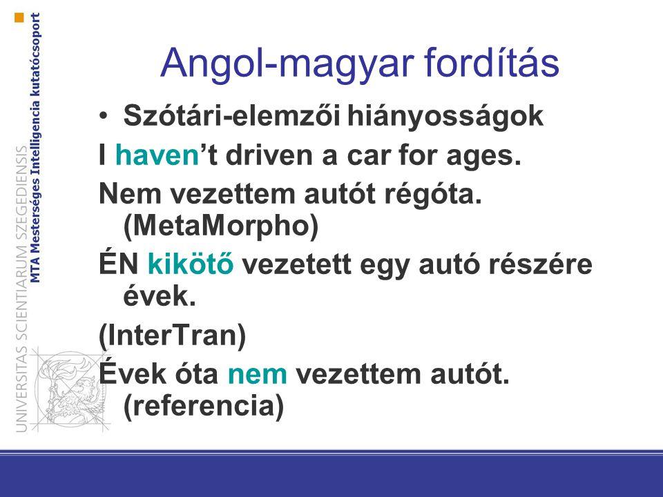 Angol-magyar fordítás