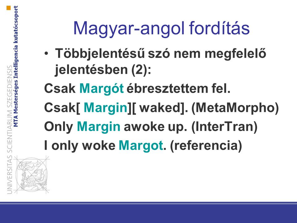 Magyar-angol fordítás