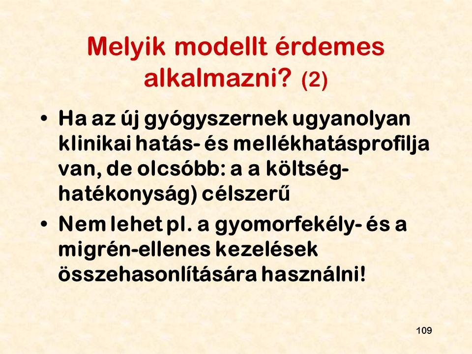 Melyik modellt érdemes alkalmazni (2)