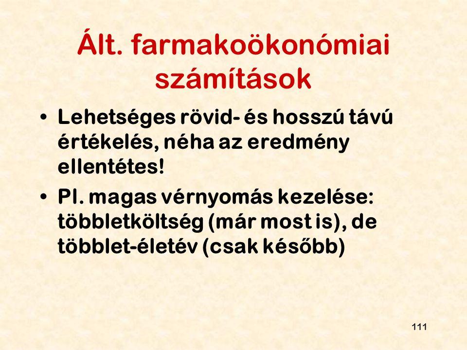 Ált. farmakoökonómiai számítások
