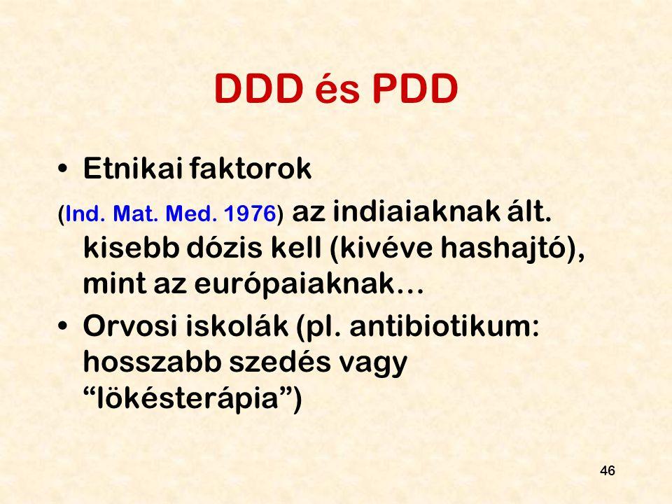 DDD és PDD Etnikai faktorok
