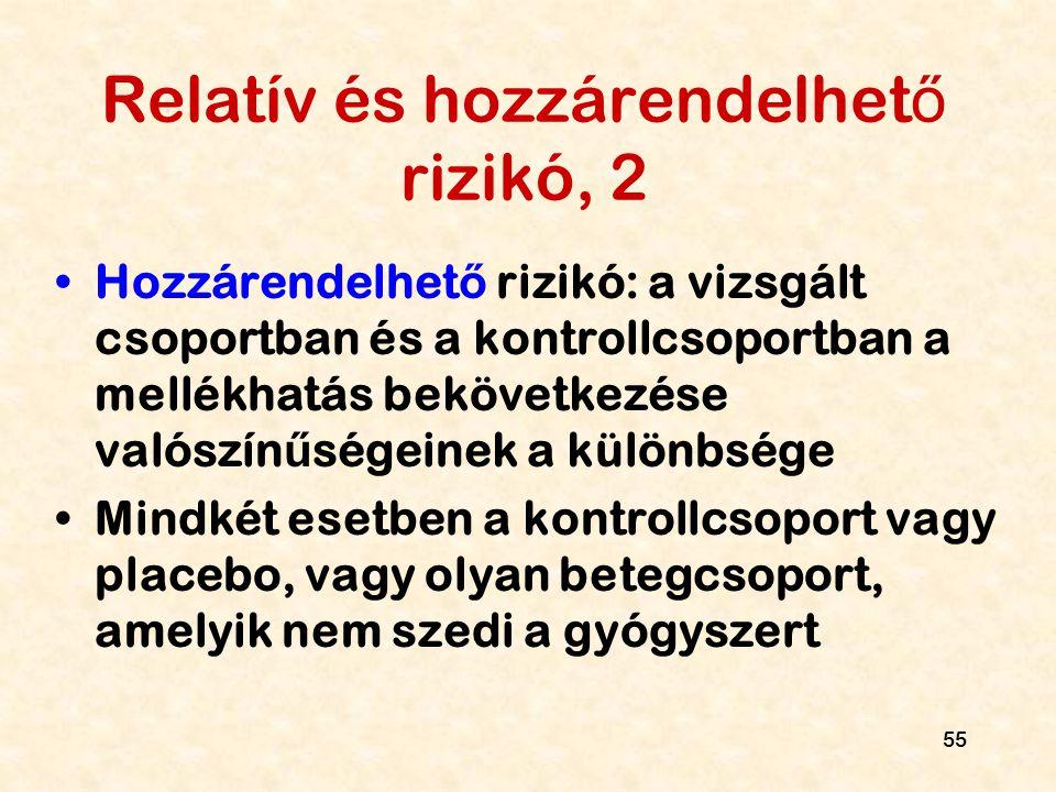 Relatív és hozzárendelhető rizikó, 2