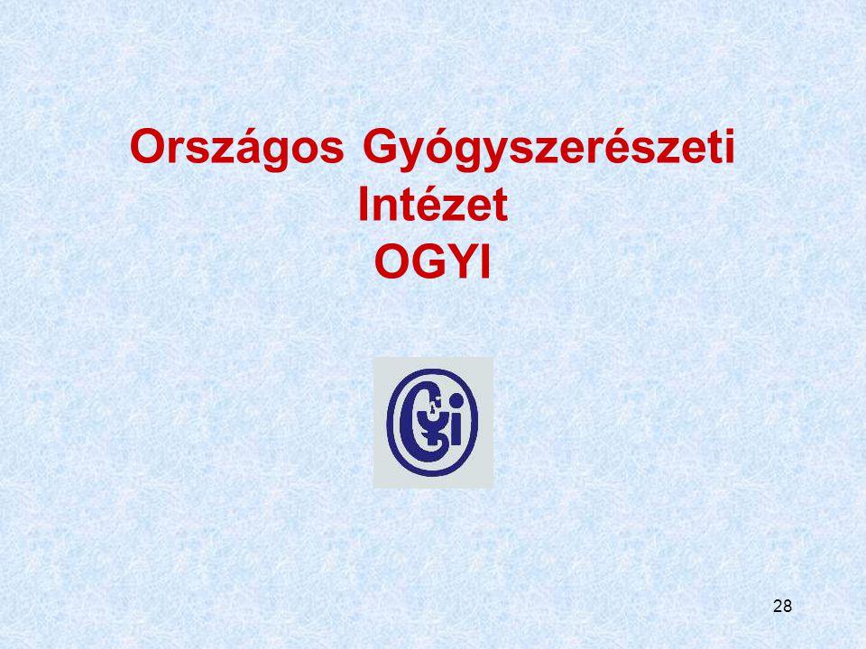 Országos Gyógyszerészeti Intézet OGYI