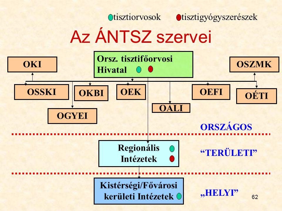 Kistérségi/Fővárosi kerületi Intézetek
