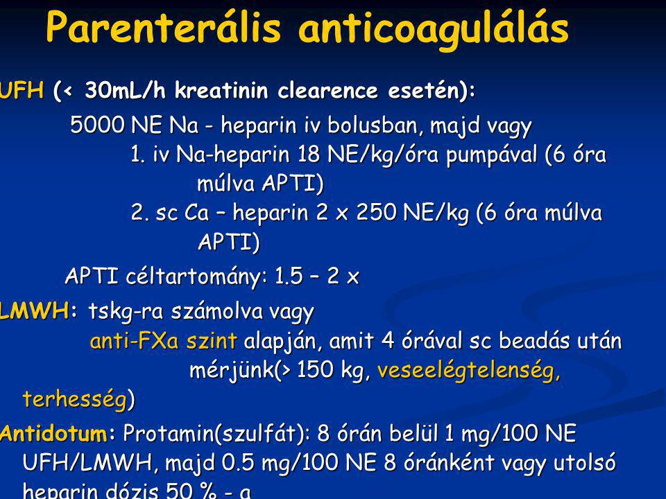 Parenterális anticoagulálás