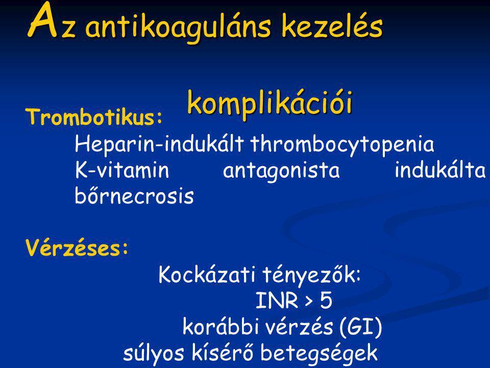 Az antikoaguláns kezelés komplikációi