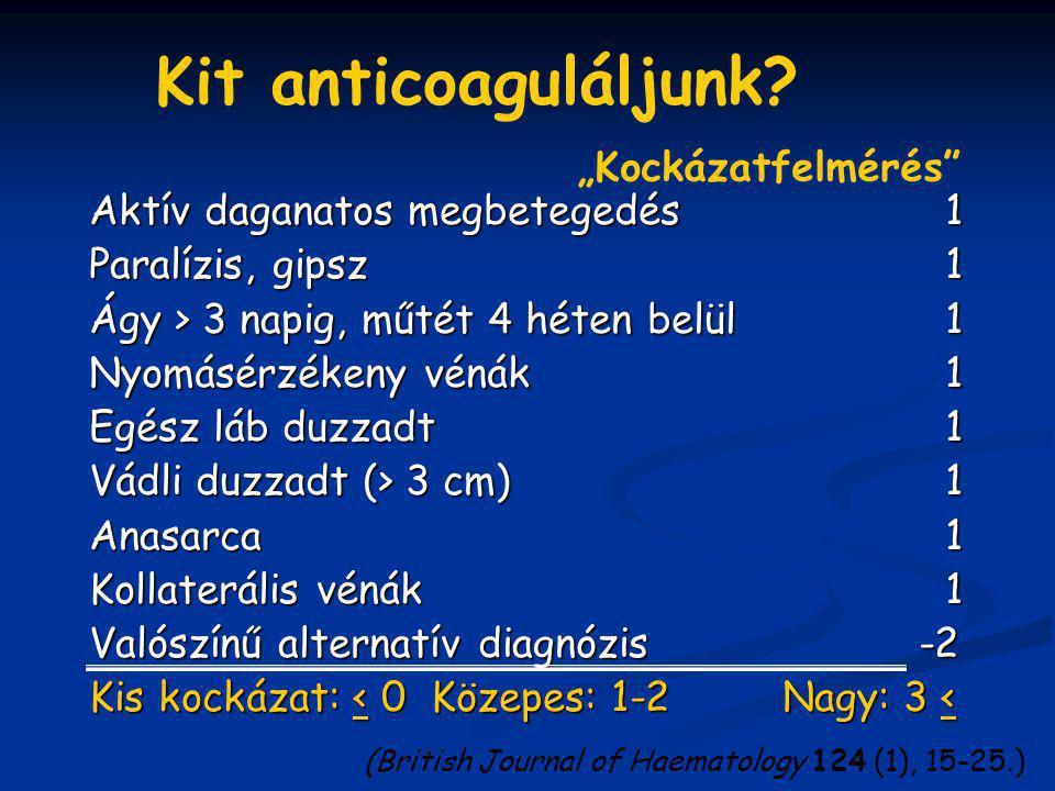 """Kit anticoaguláljunk """"Kockázatfelmérés"""