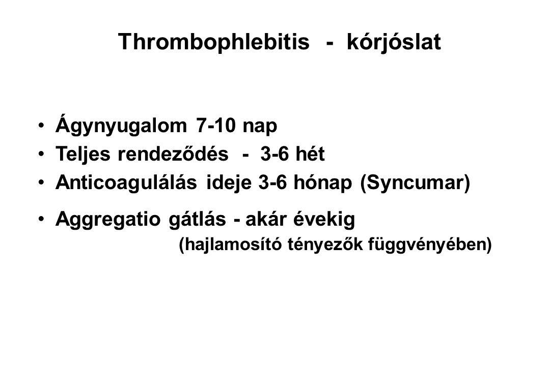 Thrombophlebitis - kórjóslat