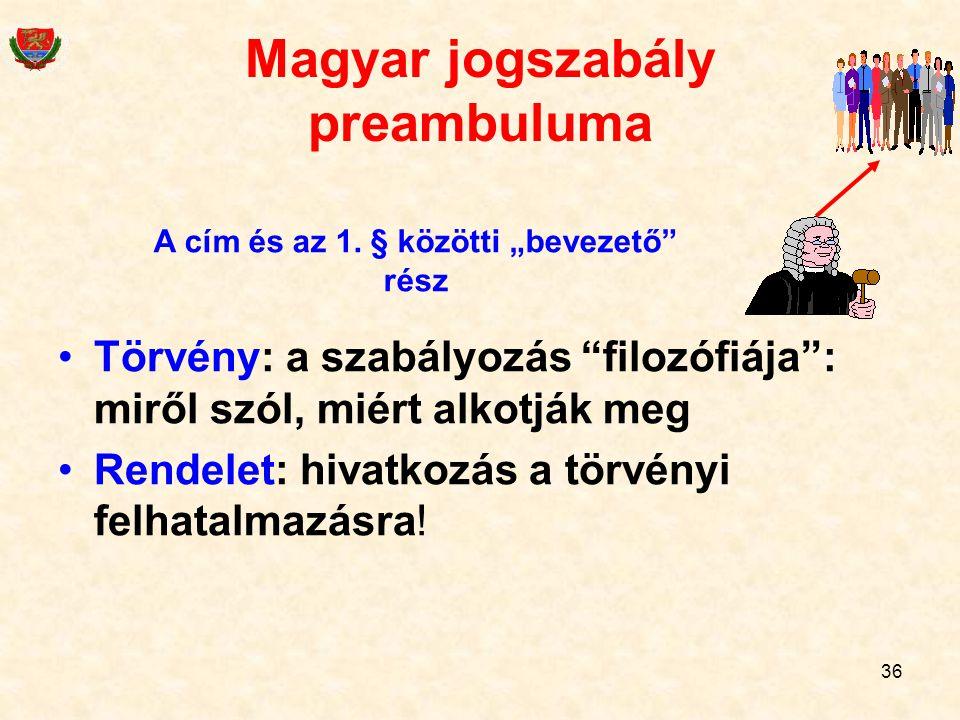 Magyar jogszabály preambuluma