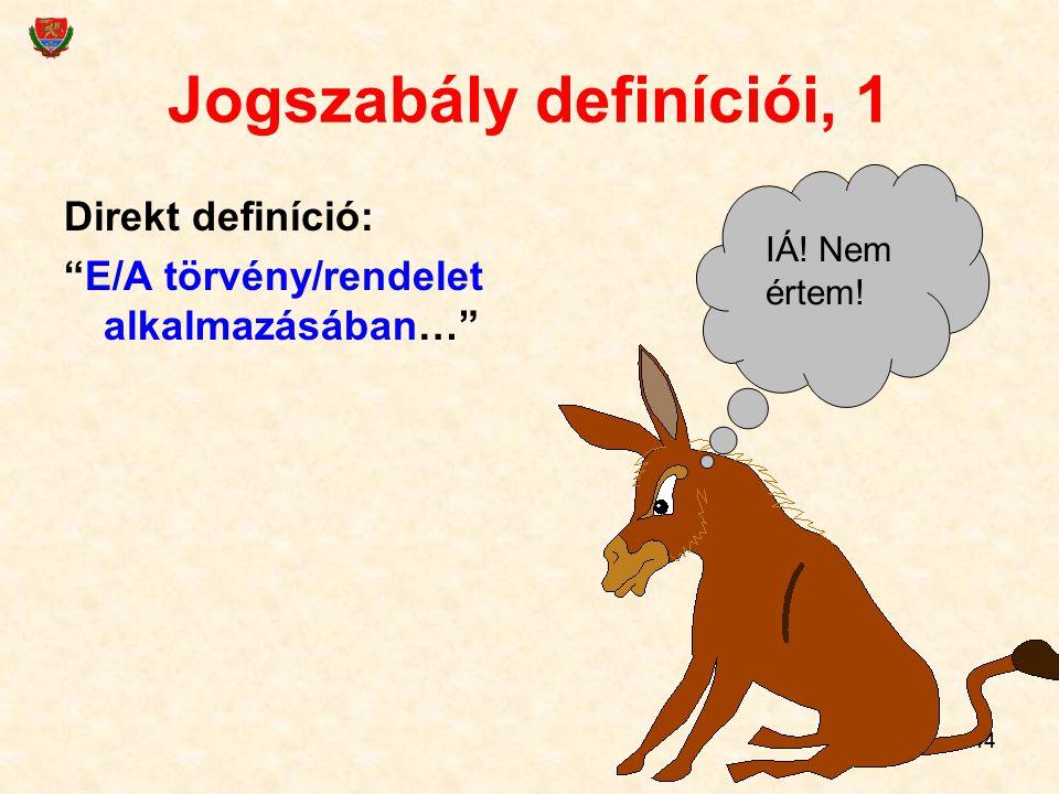 Jogszabály definíciói, 1