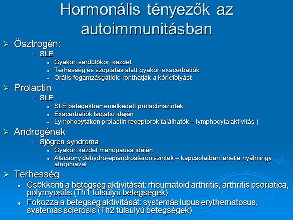 Hormonális tényezők az autoimmunitásban
