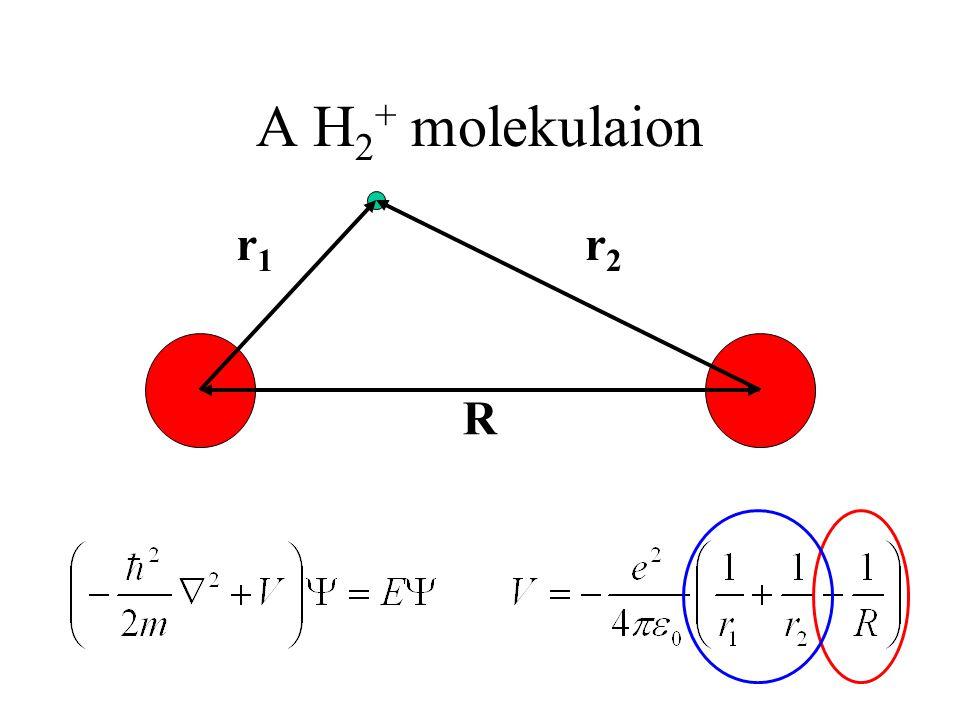 A H2+ molekulaion r1. r2. R.