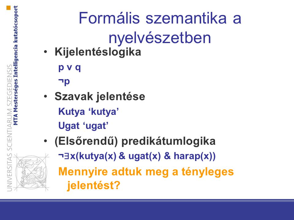 Formális szemantika a nyelvészetben