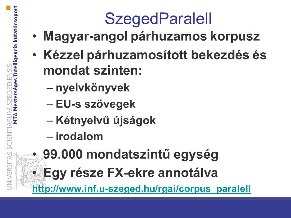 SzegedParalell Magyar-angol párhuzamos korpusz