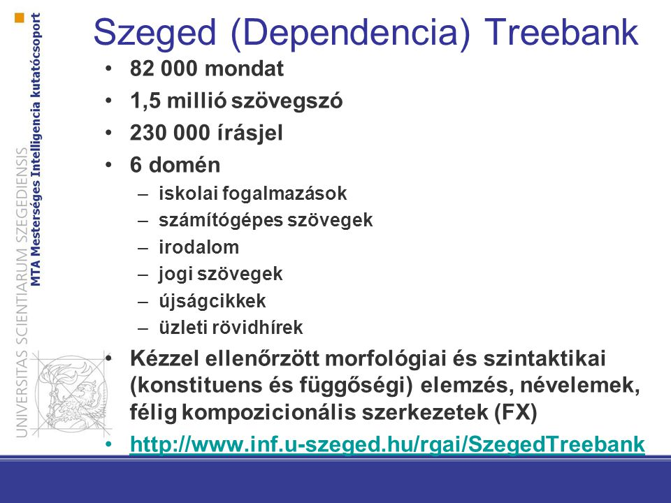 Szeged (Dependencia) Treebank