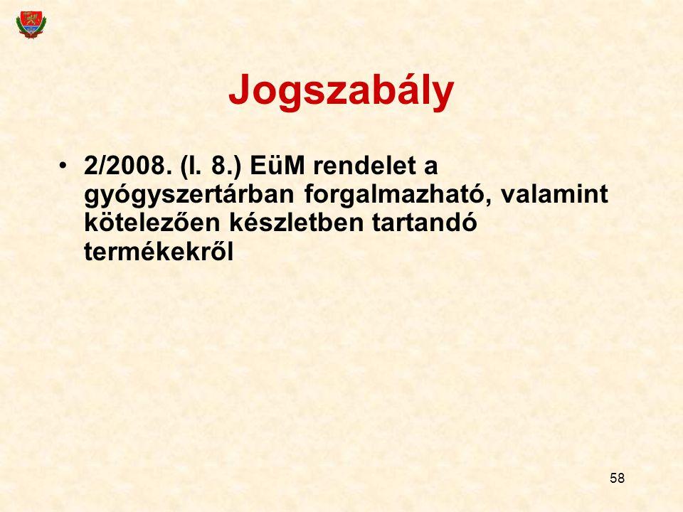 Jogszabály 2/2008. (I.
