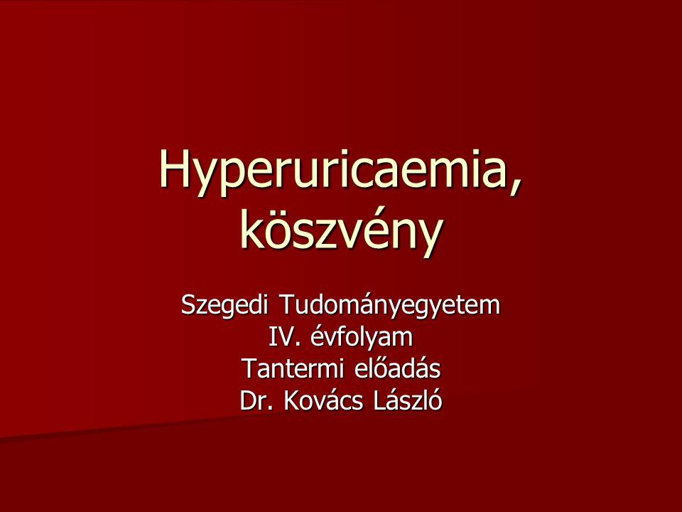 Hyperuricaemia, köszvény