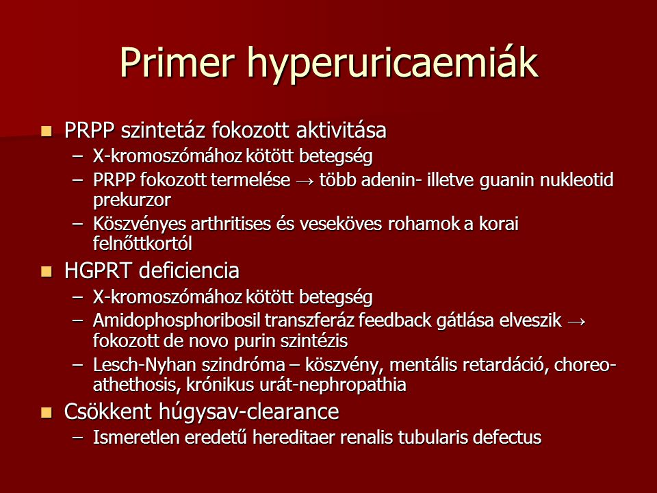 Primer hyperuricaemiák