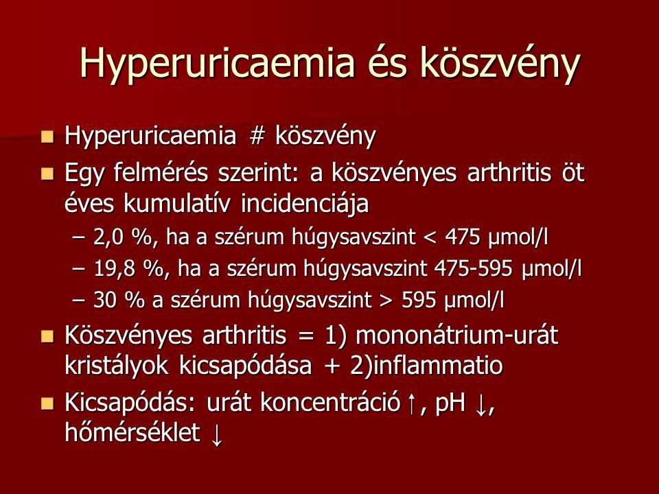Hyperuricaemia és köszvény