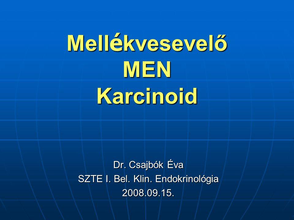Mellékvesevelő MEN Karcinoid