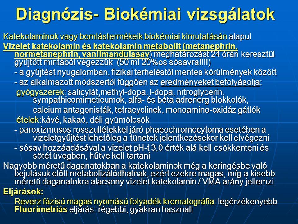 Diagnózis- Biokémiai vizsgálatok