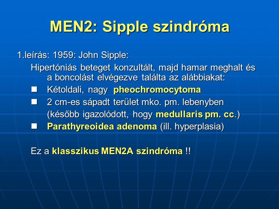 MEN2: Sipple szindróma 1.leírás: 1959: John Sipple:
