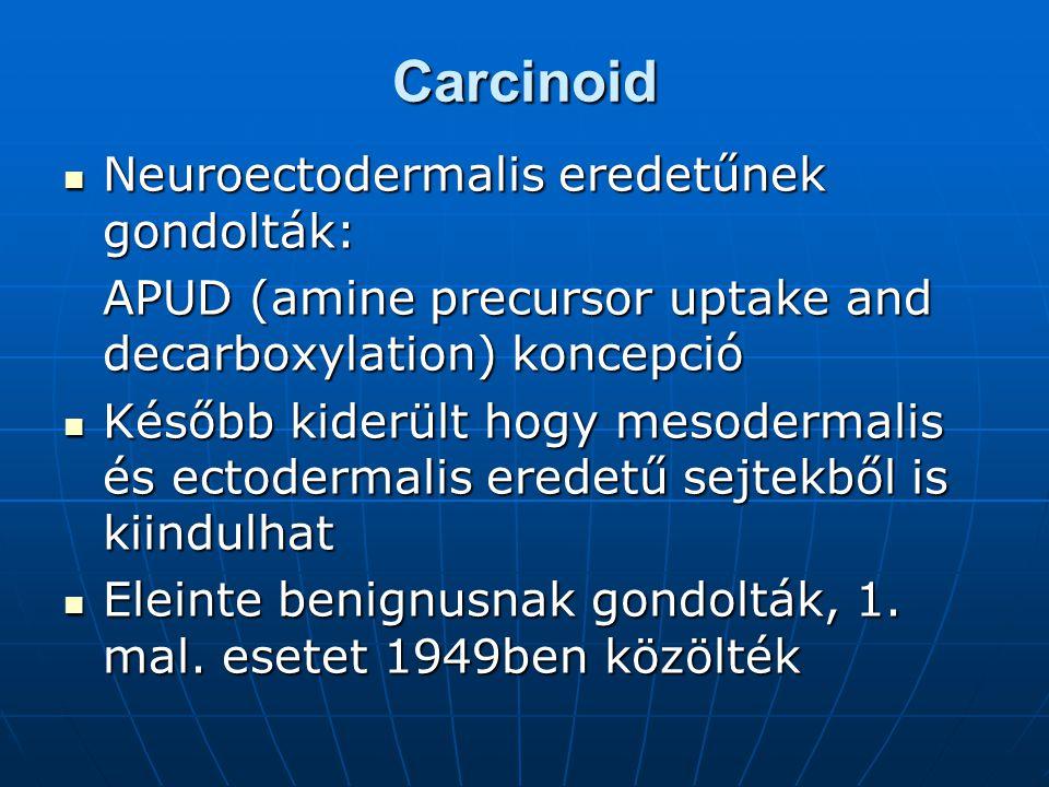 Carcinoid Neuroectodermalis eredetűnek gondolták: