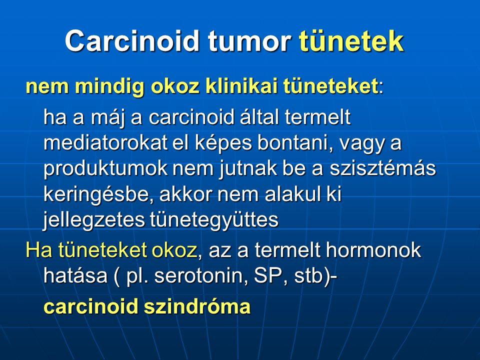 Carcinoid tumor tünetek