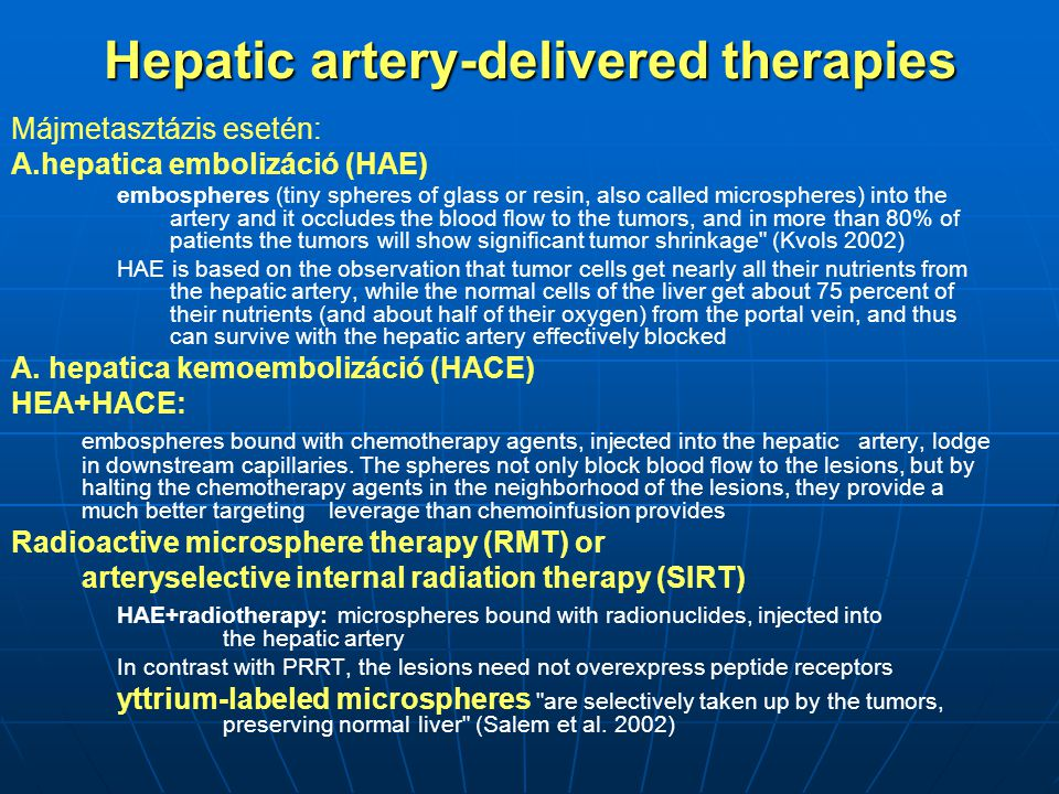 Hepatic artery-delivered therapies