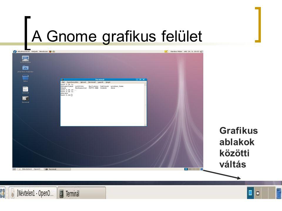 A Gnome grafikus felület