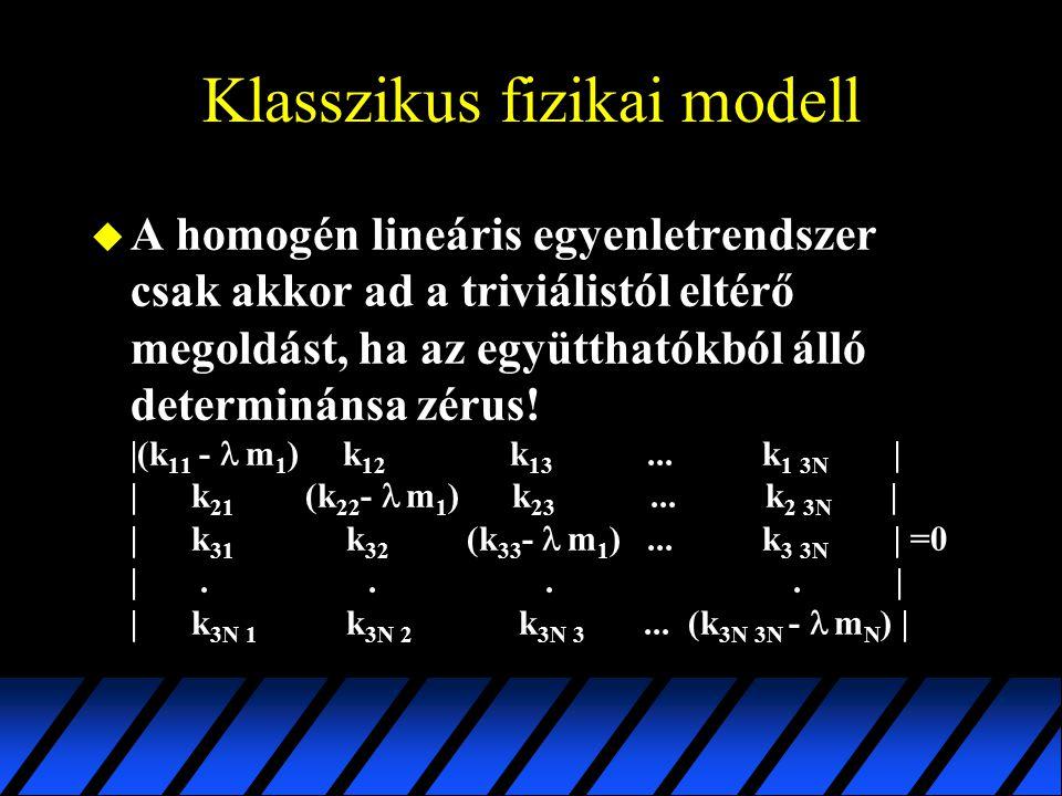 Klasszikus fizikai modell