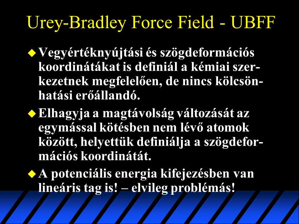 Urey-Bradley Force Field - UBFF