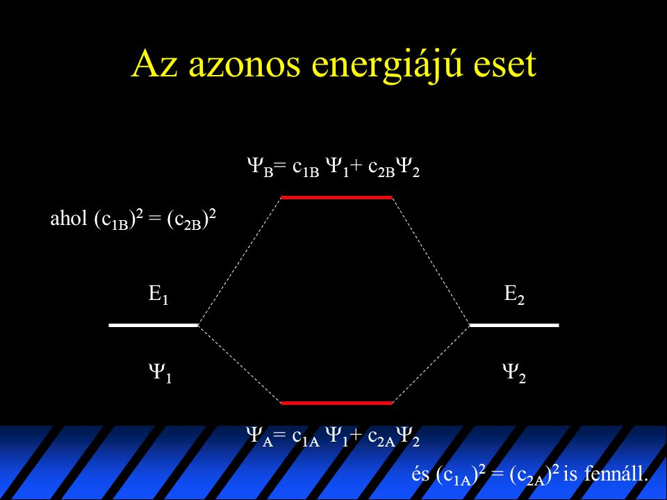 Az azonos energiájú eset