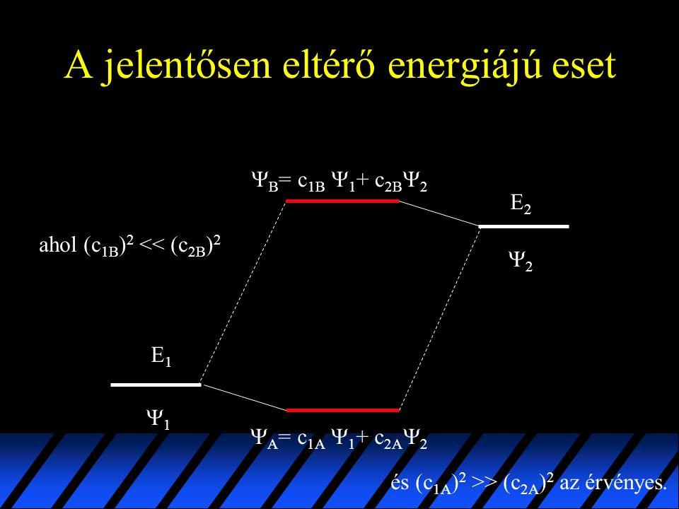 A jelentősen eltérő energiájú eset